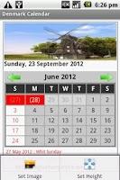 Screenshot of Danish Calendar 2012-2013