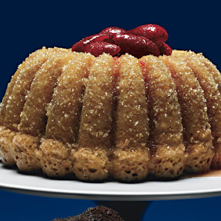 Double-Ginger Sour Cream and Bundt Cake with Ginger-Infused Strawberries
