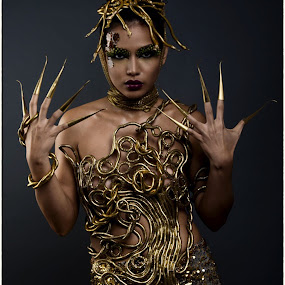 Golden Medusa by Bhong Sangalang - People Fashion ( fashion, portrait )