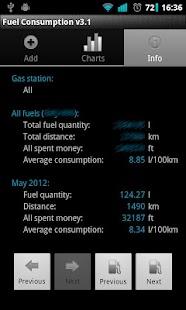 Fuel Consumption - screenshot thumbnail