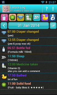 Baby Lara's Nursing Log - screenshot thumbnail
