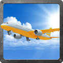 A-plane flight simulator 3D icon