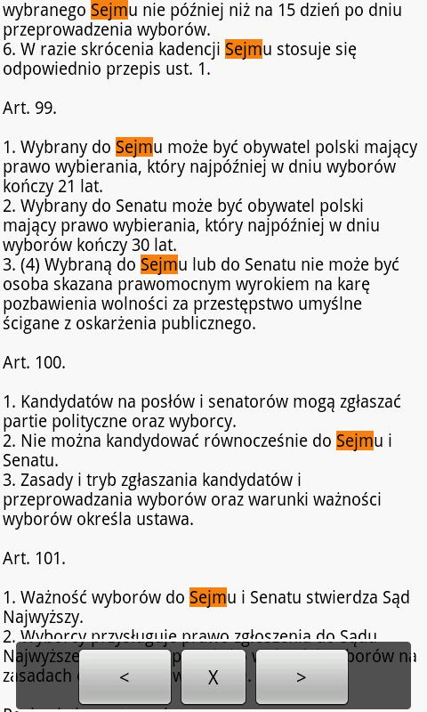 Constitution of Poland- screenshot