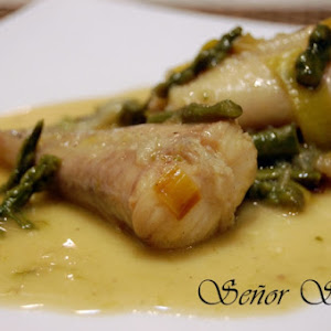 Monkfish Tails with Wild Asparagus Sauce
