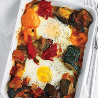 Ratatouille and Baked Eggs.