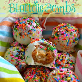 Birthday Cake Blondie Bombs.