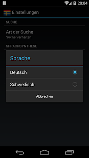 Offline German Swedish Dict.- screenshot thumbnail