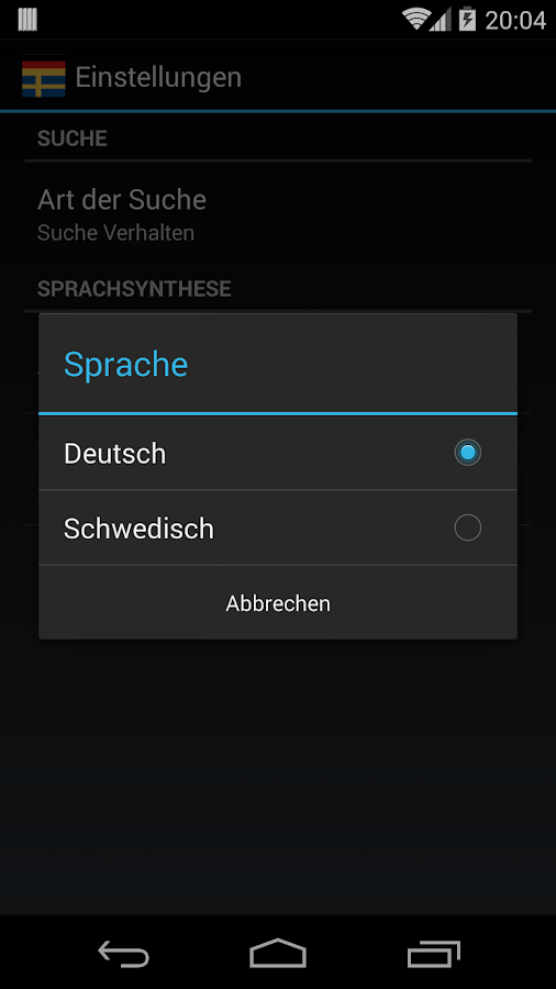Offline German Swedish Dict.- screenshot
