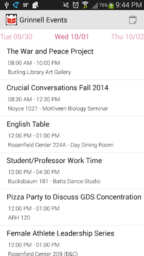 Grinnell Events