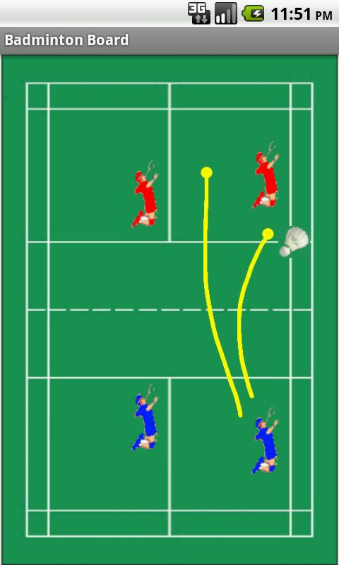 Badminton Tactics Board Lite- screenshot
