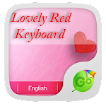 Lovely Red GO Keyboard Theme 3.87 Apk