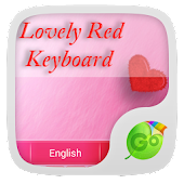 Lovely Red GO Keyboard Theme
