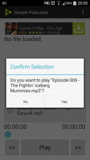 Simple Podcast Player