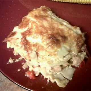 Chicken Lasagna with Andouille Sausage
