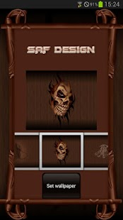 Wood Skull GO launcher EX - screenshot thumbnail