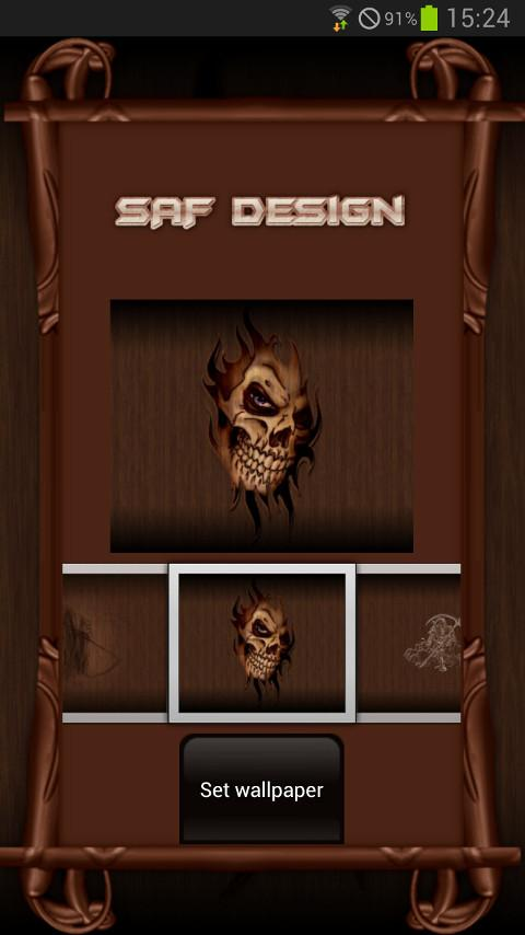 Wood Skull GO launcher EX- screenshot