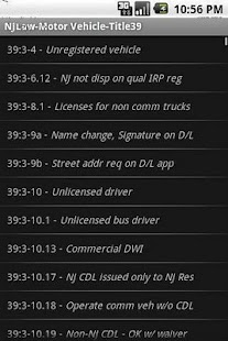 NJLAW Motor Vehicle - Title 39- screenshot thumbnail