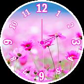Pink Clock Widget