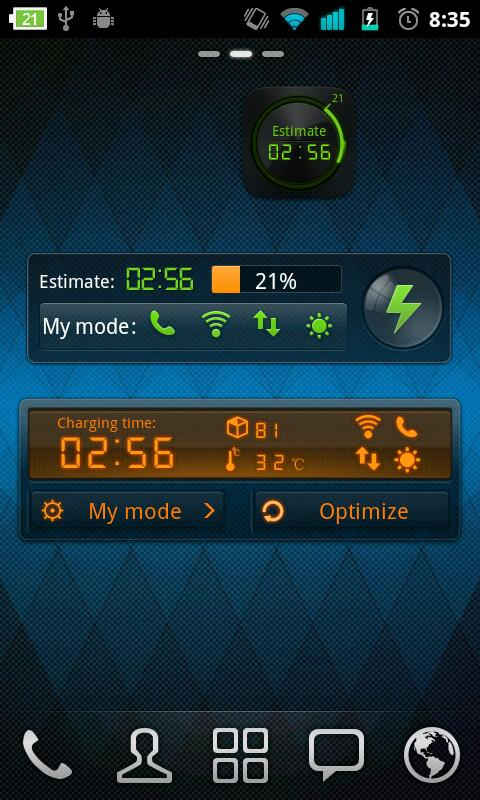 Black Theme GO Power Battery - screenshot