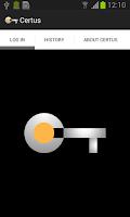 Screenshot of CertusLogin: No-Password Login