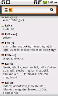 English−Hungarian Dictionary - screenshot thumbnail