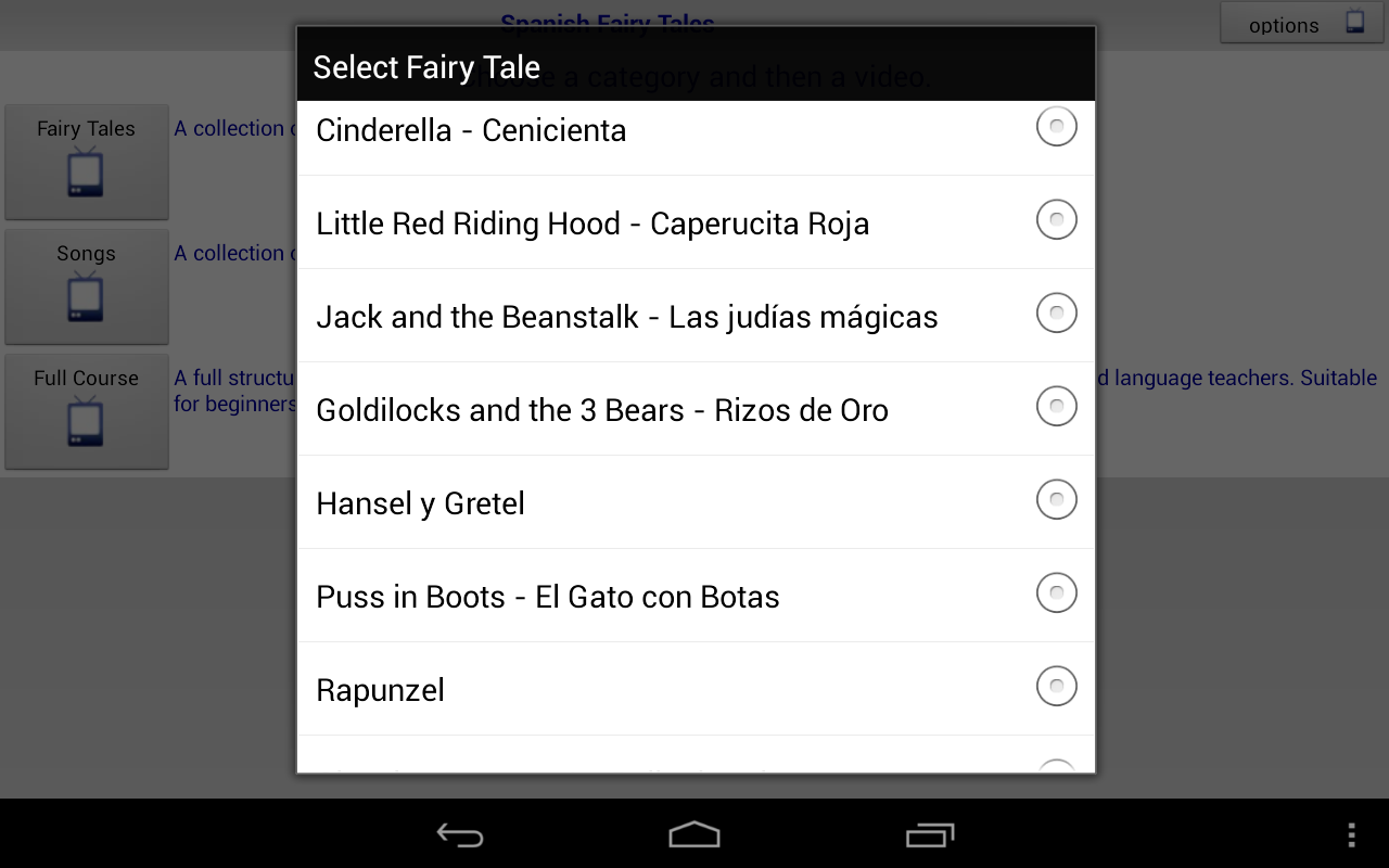Spanish Fairy Tales and Songs - screenshot