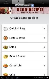 Bean Recipes! - screenshot thumbnail