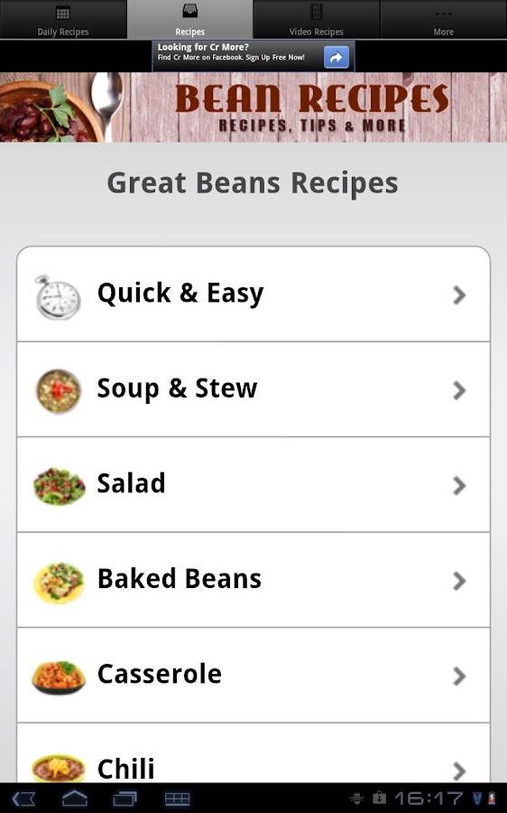 Bean Recipes! - screenshot