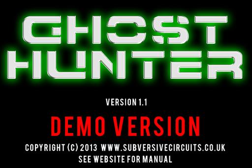 Ghost Hunter 1.1 DEMO