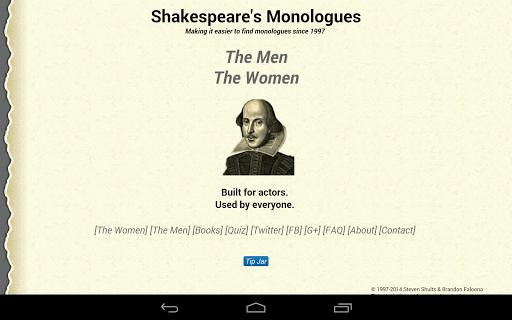 【免費書籍App】Shakespeare's Monologues-NoAds-APP點子