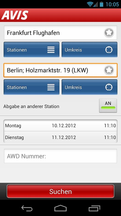 Avis - screenshot
