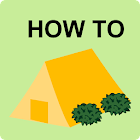 Tent in touch icon