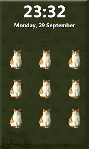 圖案貓鎖屏