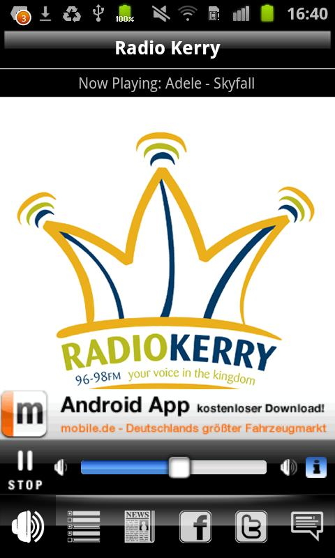 Radio Kerry- screenshot