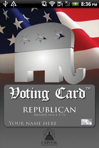 Voting Card Republican