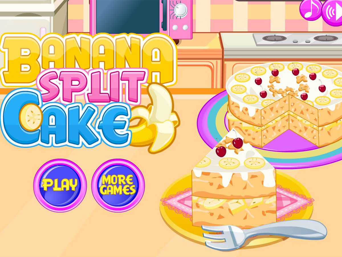 Cooking banana split cake- screenshot