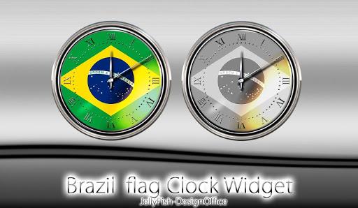 ブラジル国旗の時計ウィジェット