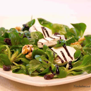 Mache Salad with Goat Cheese and Walnuts.