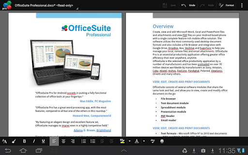 OfficeSuite Pro 7 (PDF& Fonts) v7.4.1803 Apk