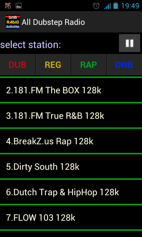 Dubstep radio Reggae radio - screenshot