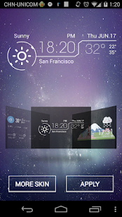 Amber Weather & Clock Widget - screenshot thumbnail
