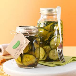 Easy Refrigerator Pickles.