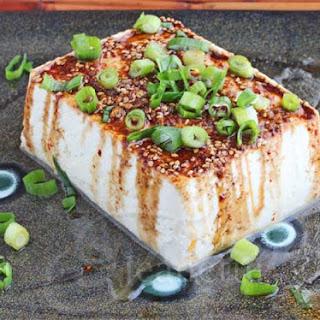 Warm Tofu with Spicy Garlic Soy Sesame Sauce Recipe