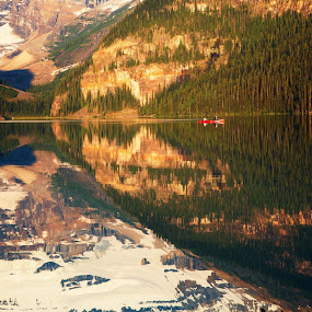 Morning on Lake Louise! by Jim Kuhn - Landscapes Waterscapes
