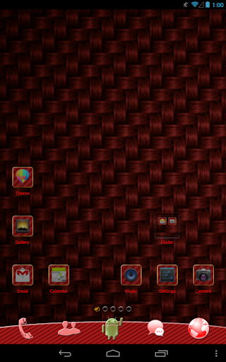 Red Carbon GO Launcher Theme
