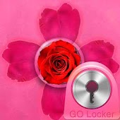 GO Locker Theme Pink Cute Rose