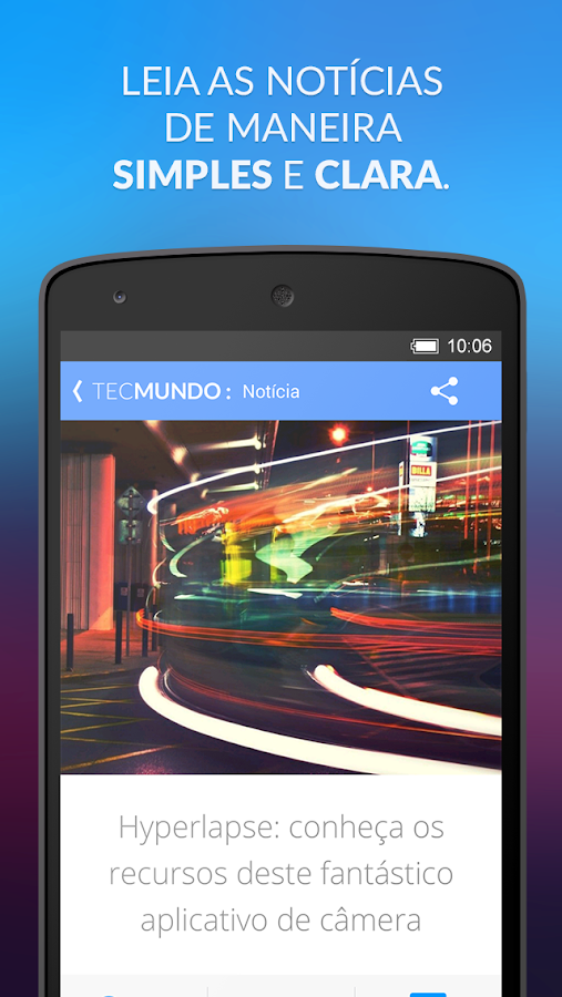 Tecmundo not cias apps para android no google play for App noticias android