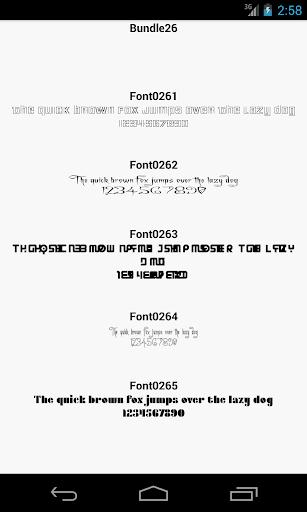 Fonts for FlipFont 26