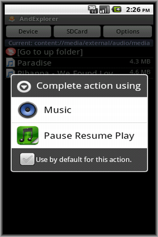pause resume play ad android apps on play