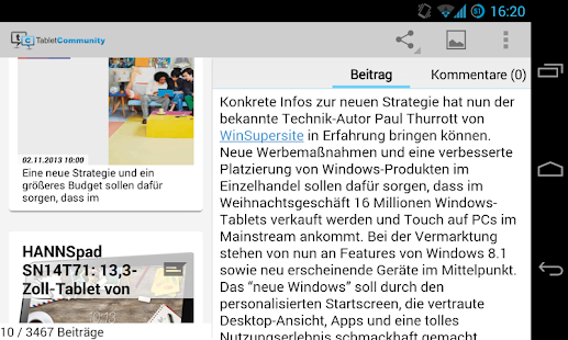 TabletCommunity.de- screenshot thumbnail